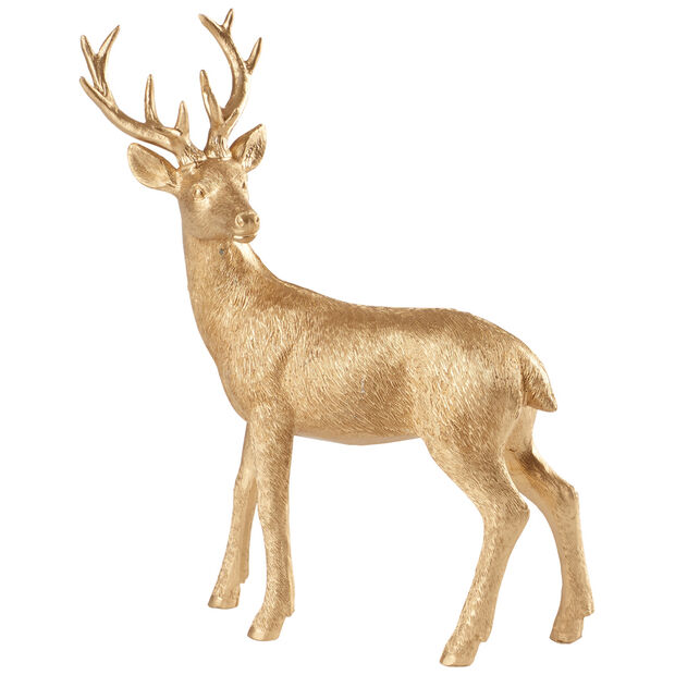 Winter Collage Accessoires Deer standing gold 22cm, , large