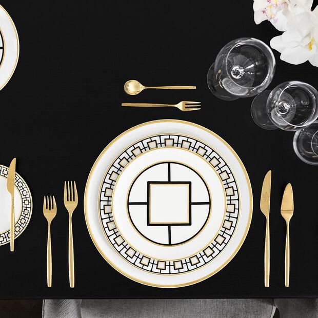 MetroChic dessert/breakfast plate, 22 cm diameter, white/black/gold, , large