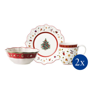Toy's Delight Breakfast for 2 white, set 6pcs 36x25x14cm