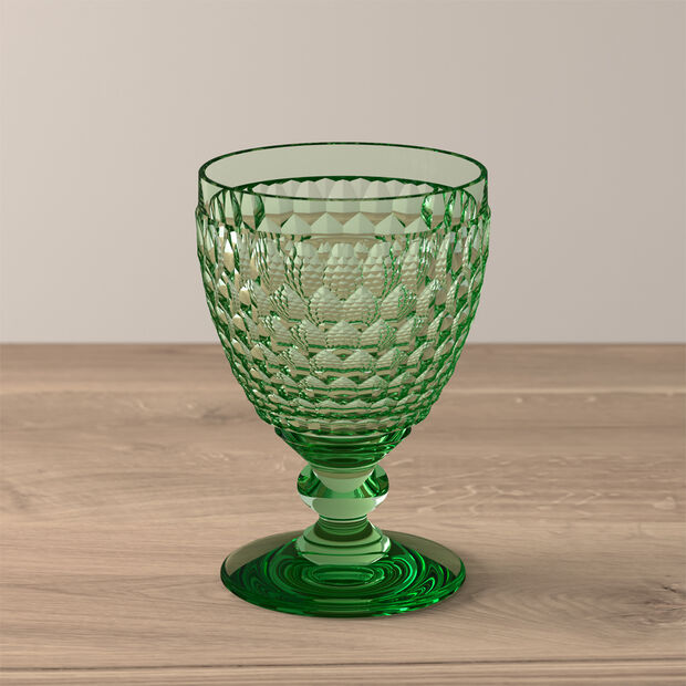 Boston Coloured Red wine glass Green, , large